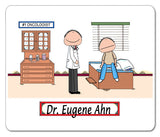 Doctor Male with Male Patient Mouse Pad -Personalized 8836