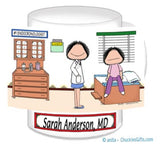 Doctor with Patient Mug Female with Female Patient - Personalized 8837