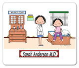 Doctor Female with Female Patient Mouse Pad -Personalized 8837