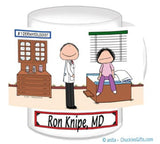 Doctor with Patient Mug Male with Female Patient - Personalized 8838
