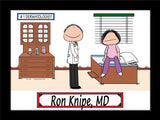 Doctor with Female Patient Cartoon Picture Male - Personalized 8838