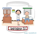 Doctor with Patient Mug Female with Male Patient - Personalized 8836 8839