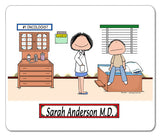 Doctor Female with Male Patient Mouse Pad -Personalized 8839