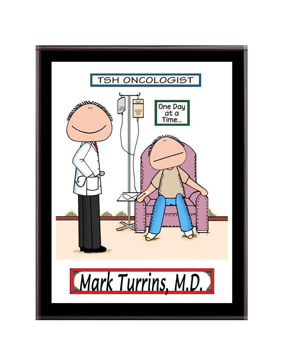 Doctor - Oncology Chemo Plaque Male with Male Patient - Personalized 8840