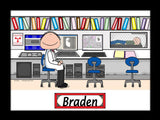 Radiation Therapist Cartoon Picture Male - Personalized 8854