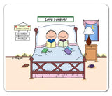 Home Sweet Home Mouse Pad Male and Male - Personalized 8870