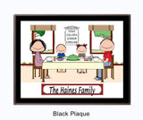 Family Dinner Plaque 2 Kids - Personalized