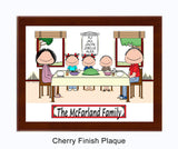 Family Dinner Plaque 3 Kids - Personalized