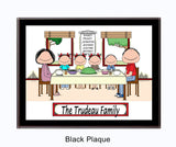 Family Dinner Plaque 4 Kids - Personalized