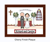 Wedding Church Plaque Male and Female - Personalized 8926