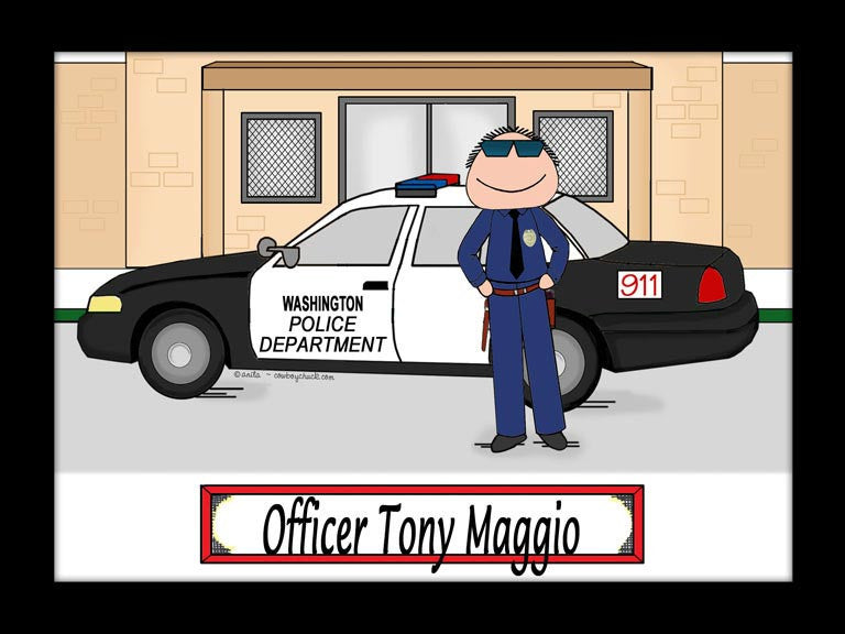 Police Cartoon Picture Male - Personalized 8934