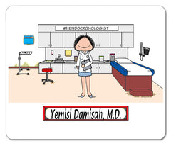 Doctor's Office Mouse Pad Female Personalized