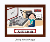 Disk Jockey Plaque Female - Personalized