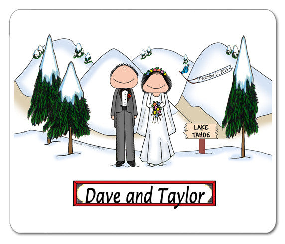 Wedding Winter Mouse Pad