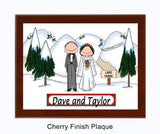 Wedding Winter Plaque - Personalized