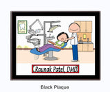 Dentist Plaque Male - Personalized