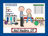 Occupational Therapist Cartoon Picture Male - Personalized 8954