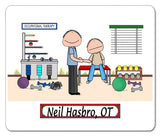 Occupational Therapist Mouse Pad Male Personalized