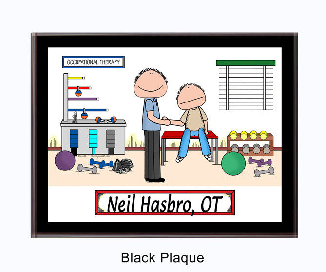 Occupational therapist Plaque Male - Personalized