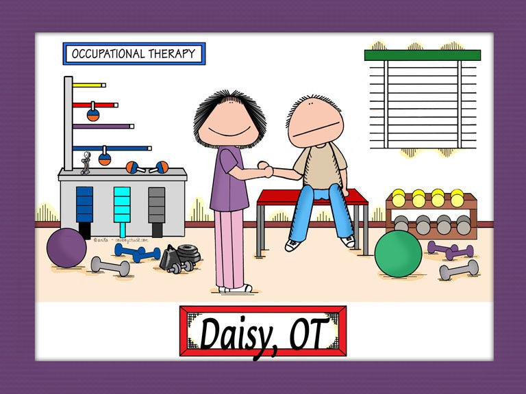 Occupational Therapist Cartoon Picture