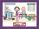 Occupational Therapist Cartoon Picture Female - Personalized 8955