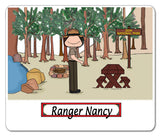 8957 Park Rangers Mouse Pad Female - Personalized