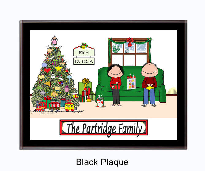 Christmas Family Plaque Couple - Personalized