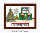 Christmas Family Plaque 1 Kid - Personalized