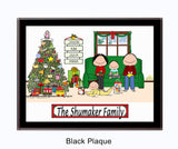 Christmas Family Plaque 2 Kids - Personalized