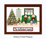 Christmas Family Plaque 3 Kids - Personalized
