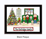 Christmas Family Plaque 4 Kids - Personalized