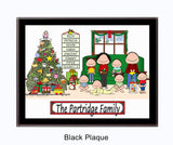 Christmas Family Plaque 6 Kids - Personalized