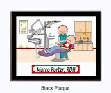 Dental Hygienist Plaque Male - Personalized