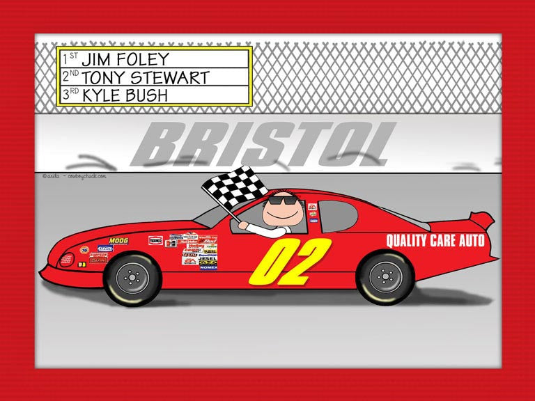 Stock Car Cartoon Picture Male - Personalized 8980