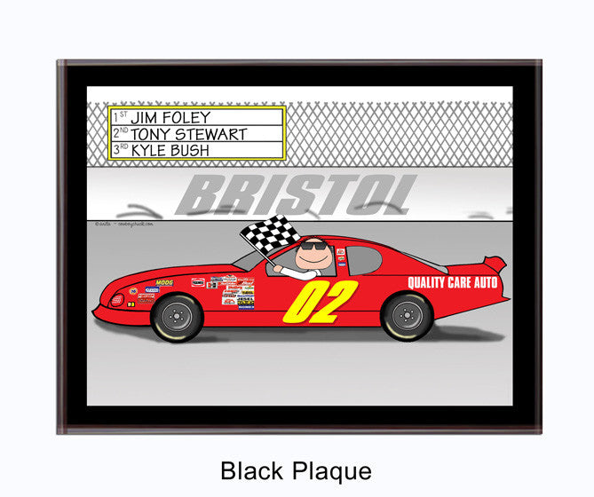 Stock Car Plaque Male - Personalized