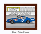 Stock Car Plaque Female - Personalized