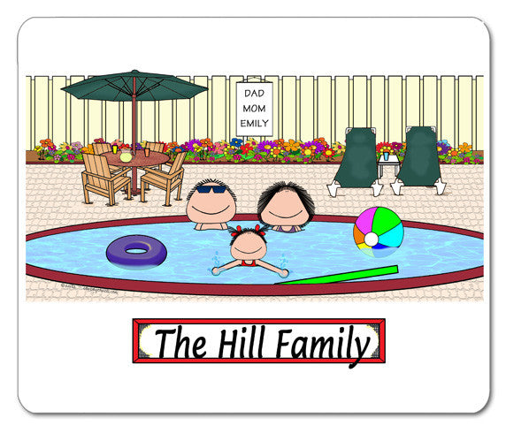 Pool Family Mouse Pad