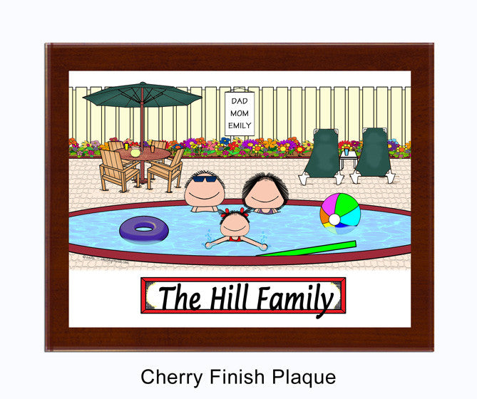 Pool Family Plaque