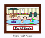 Pool Family Plaque 1 Kid - Personalized