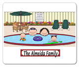 Pool Family Mouse Pad 2 Kids Personalized