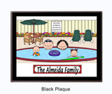 Pool Family Plaque 2 Kids - Personalized