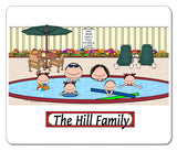 Pool Family Mouse Pad 4 Kids Personalized