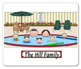 Pool Family Mouse Pad 5 Kids Personalized