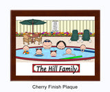 Pool Family Plaque 5 Kids - Personalized