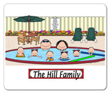 Pool Family Mouse Pad 6 Kids Personalized