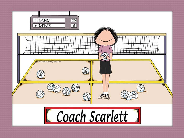 Volleyball Coach Cartoon Picture
