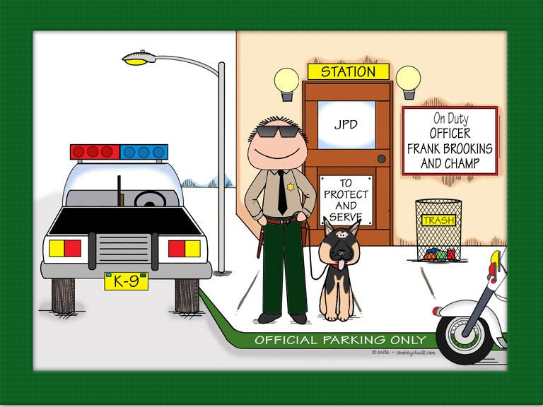 Police with K-9 Cartoon Picture