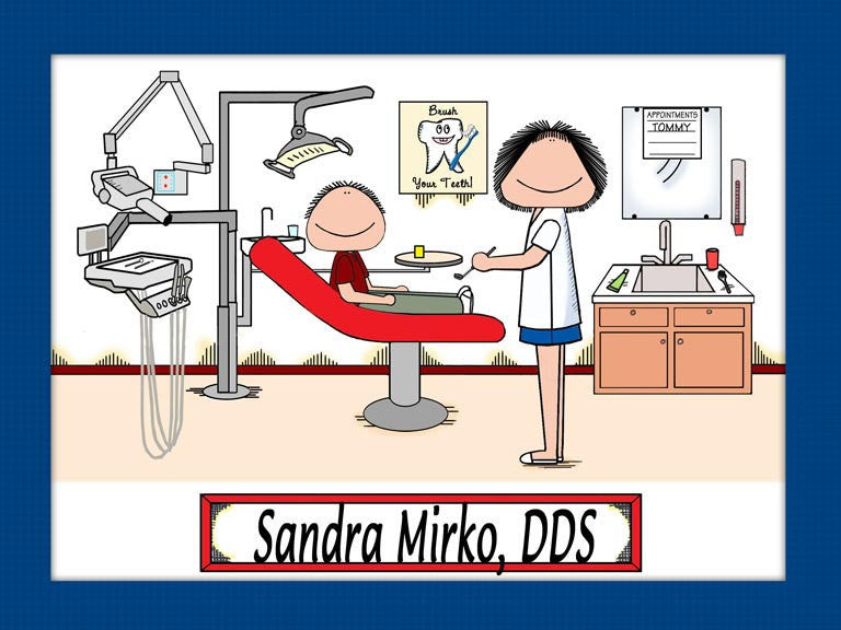 Pediatric Dentist Cartoon Picture