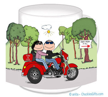 Motorcycle Trike Couple Mug - Personalized
