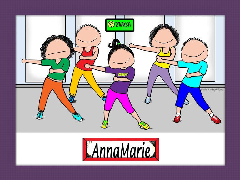 Zumba Cartoon Picture